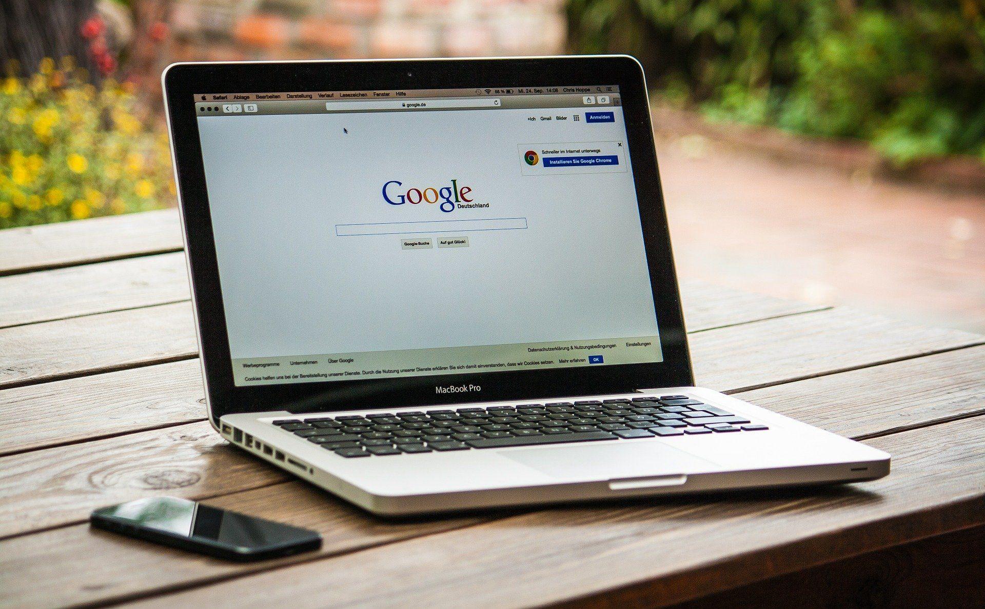 google on a macbook